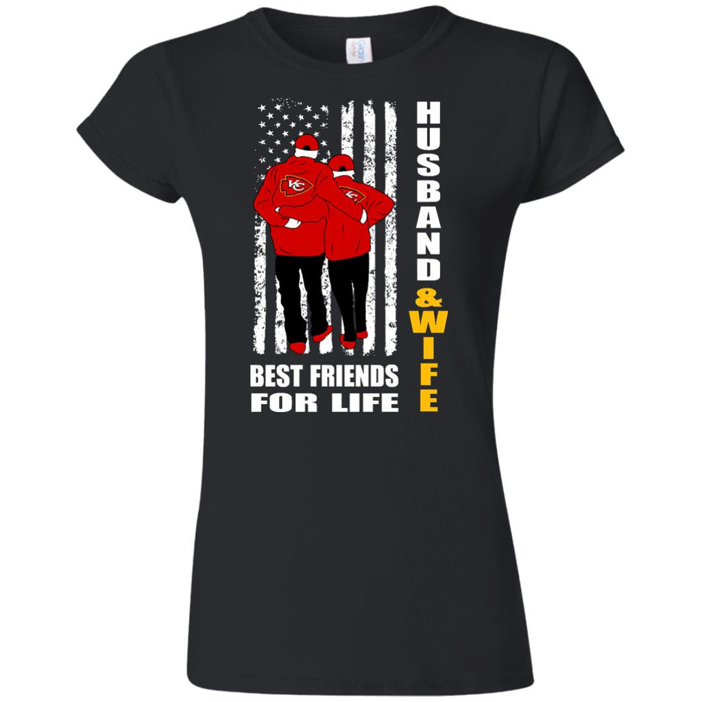 Husband And Wife Best Friends For Life Kansas City Chiefs T Shirt - Best Funny Store