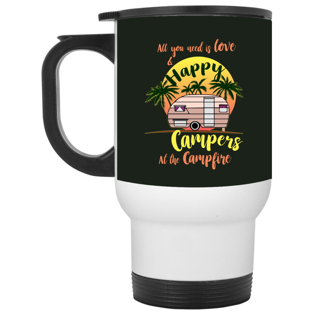 All You Need Is Love And Happy Campers Camping Mugs