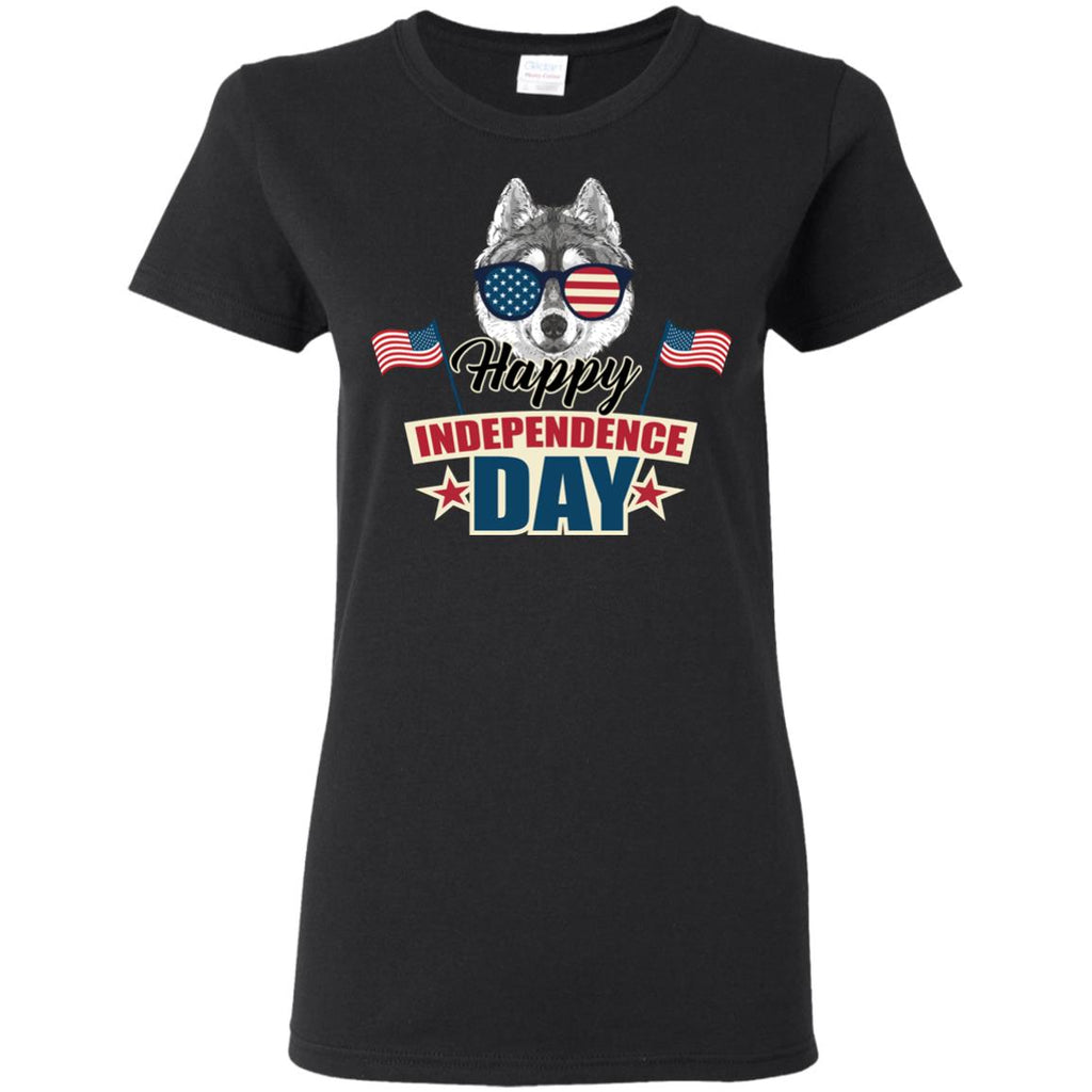Husky - Happy Independence Day T Shirts Ver 1