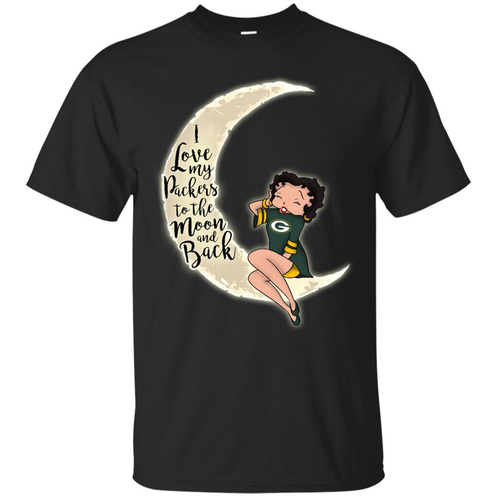 BB I Love My Green Bay Packers To The Moon And Back T Shirt - Best Funny Store