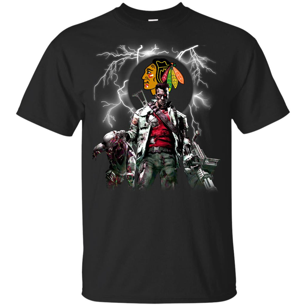 Guns Chicago Blackhawks T Shirt - Best Funny Store