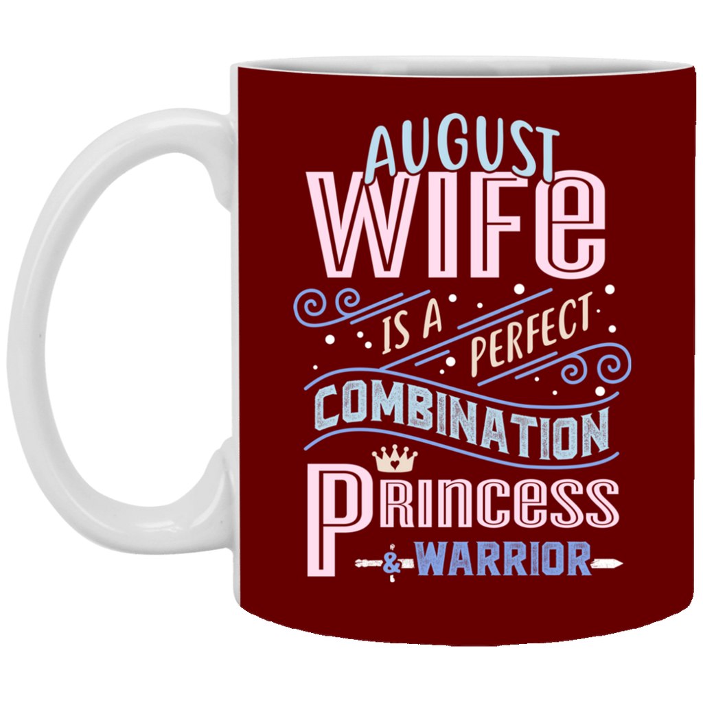 August Wife Combination Princess And Warrior Mugs