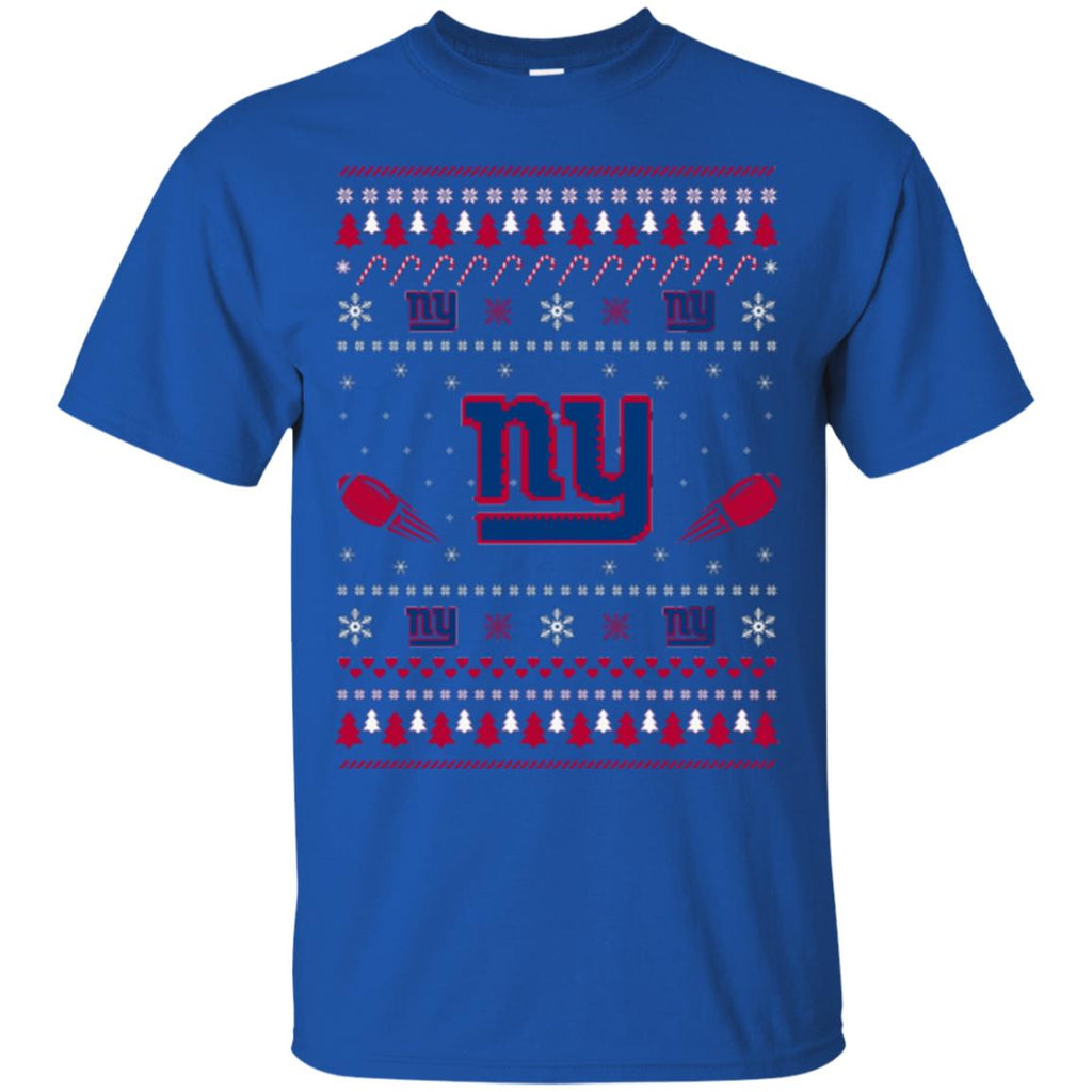 New York Giants Stitch Knitting Style Ugly T Shirts