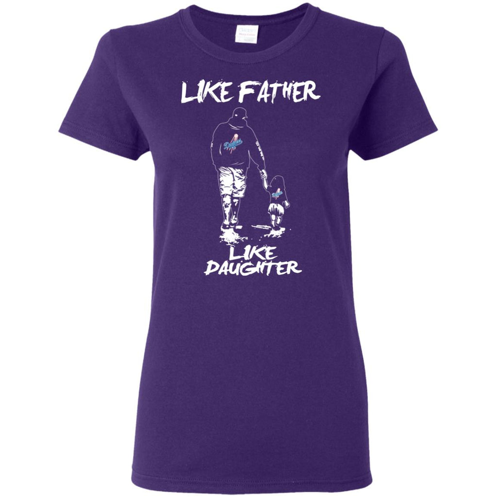 Like Father Like Daughter Los Angeles Dodgers T Shirts