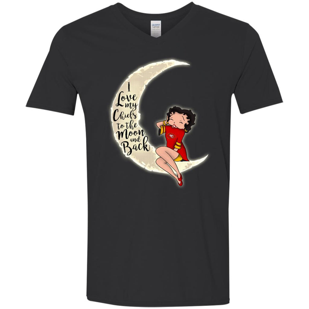 BB I Love My Kansas City Chiefs To The Moon And Back T Shirt - Best Funny Store