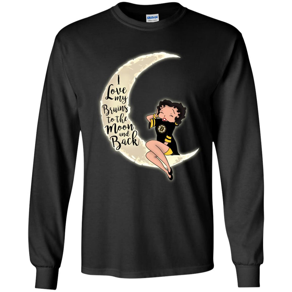 BB I Love My Boston Bruins To The Moon And Back T Shirt