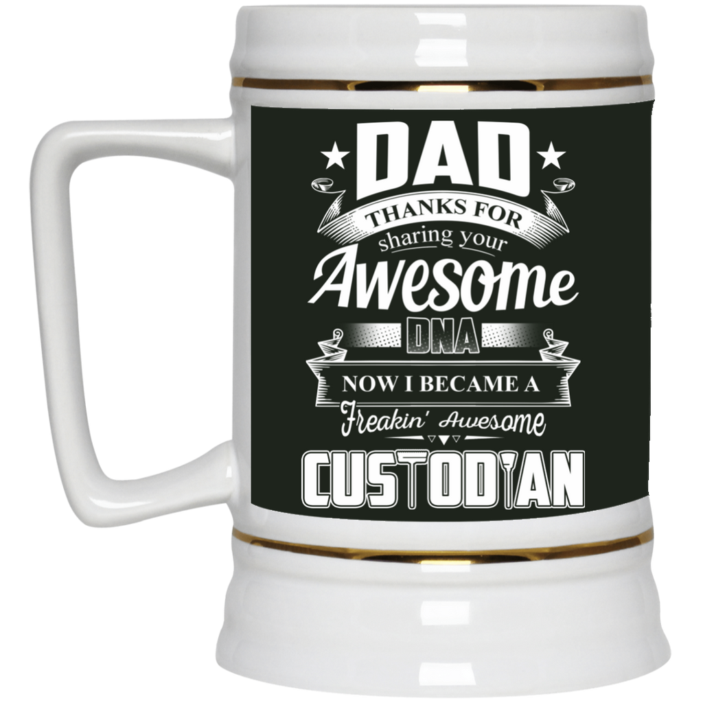 Dad Thanks For Sharing Your DNA Custodian Mugs