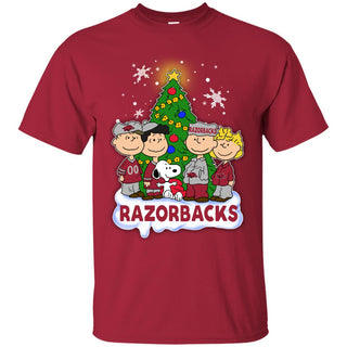 Snoopy The Peanuts Arkansas Razorbacks Christmas T Shirts