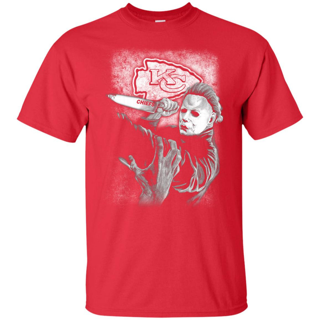 Michael Jason Myers Friday The 13th Kansas City Chiefs Halloween T Shirts - Best Funny Store