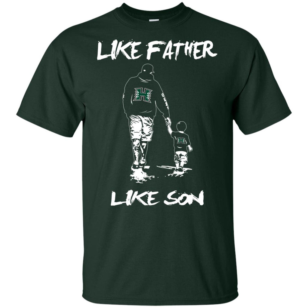 Like Father Like Son Hawaii Rainbow Warriors T Shirt
