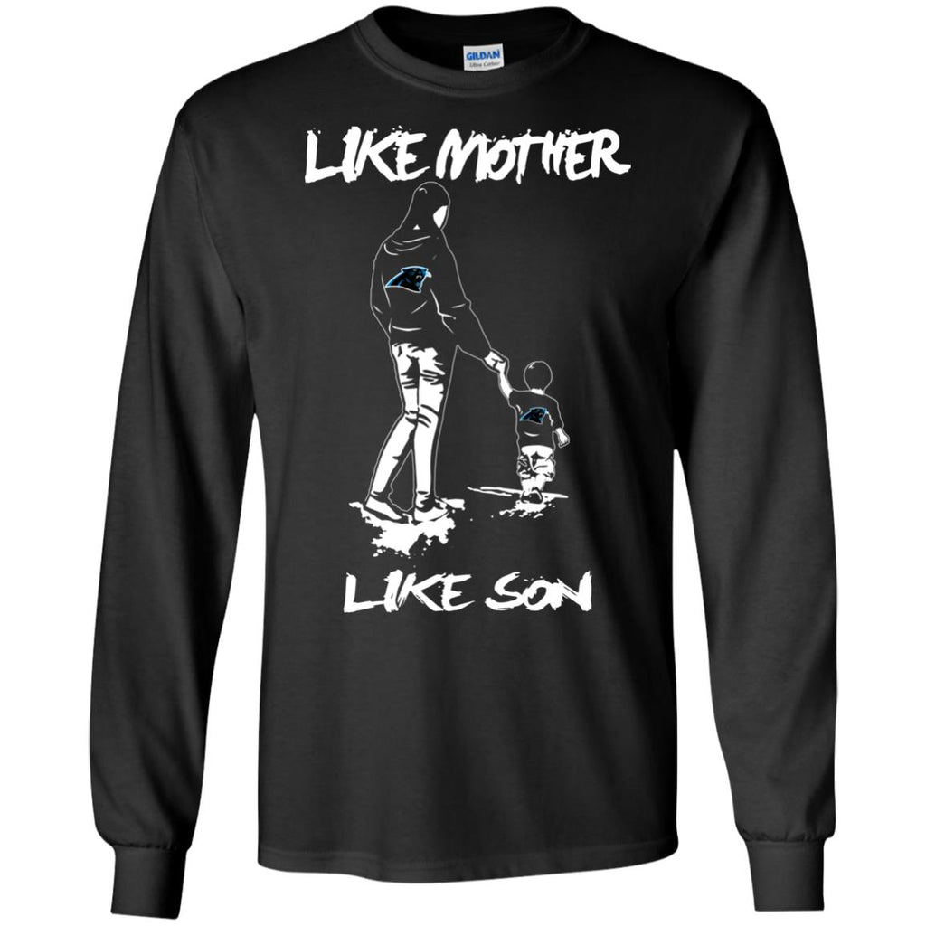 Like Mother Like Son Carolina Panthers T Shirt