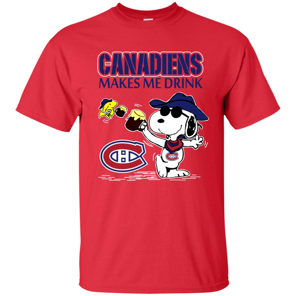 Montreal Canadiens Make Me Drinks T Shirts