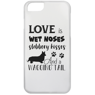 Love Is Wet Noses Slobbery Kisses Corgi Phone Cases