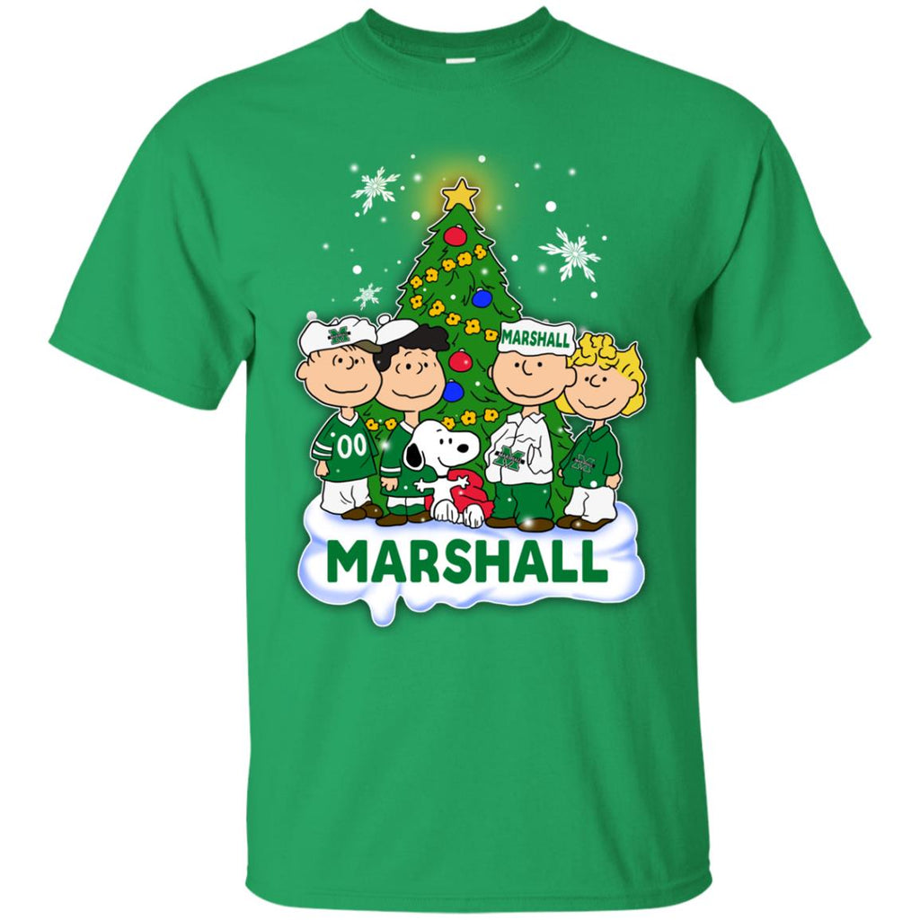 Snoopy The Peanuts Marshall Thundering Herd Christmas T Shirts