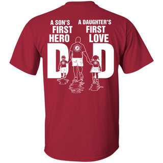 Son Is First Hero And Daughter Is First Love Alabama Crimson Tide Dad T Shirt