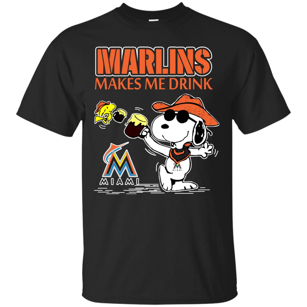 Miami Marlins Makes Me Drinks T Shirts