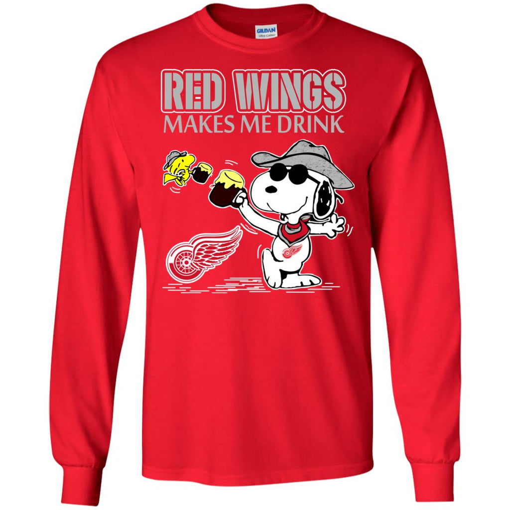 Detroit Red Wings Make Me Drinks T Shirts