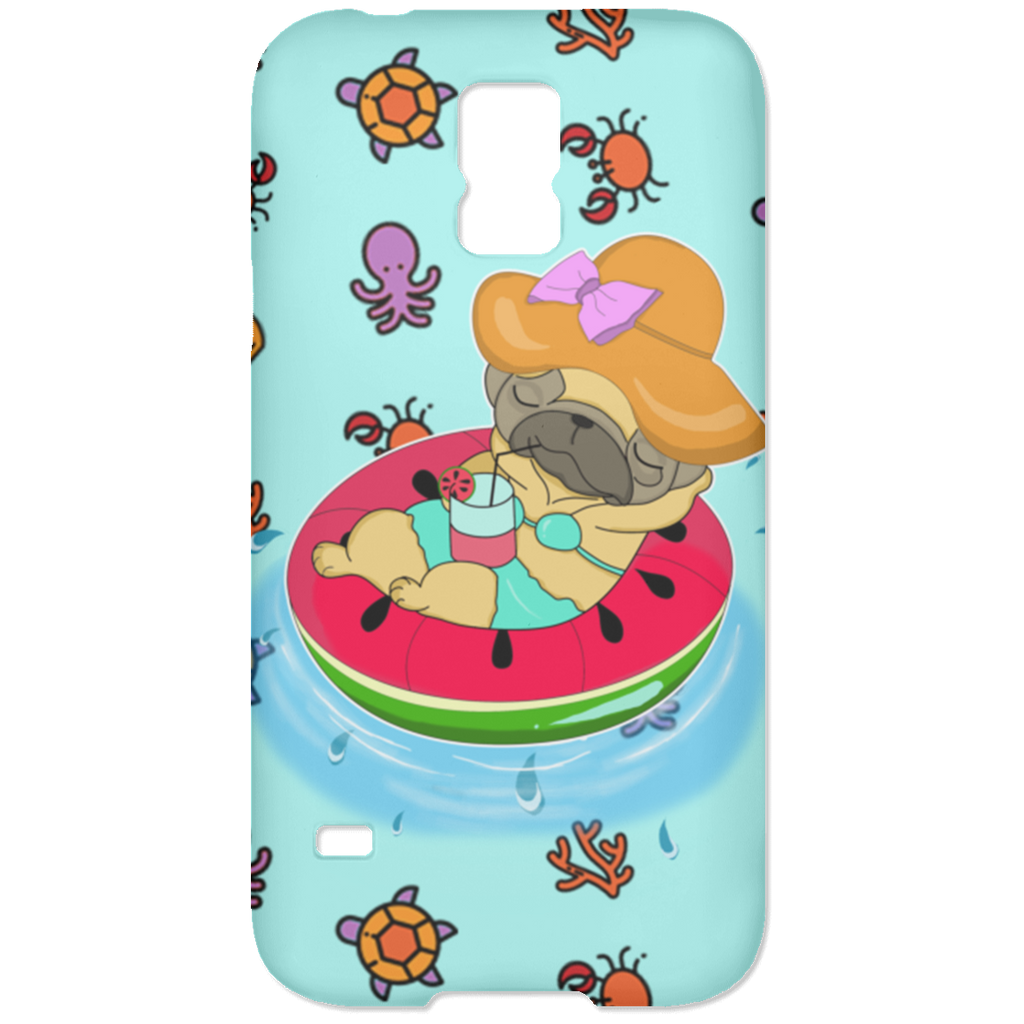 Watermelon Pool Float Beach Pattern Pug Phone Cases