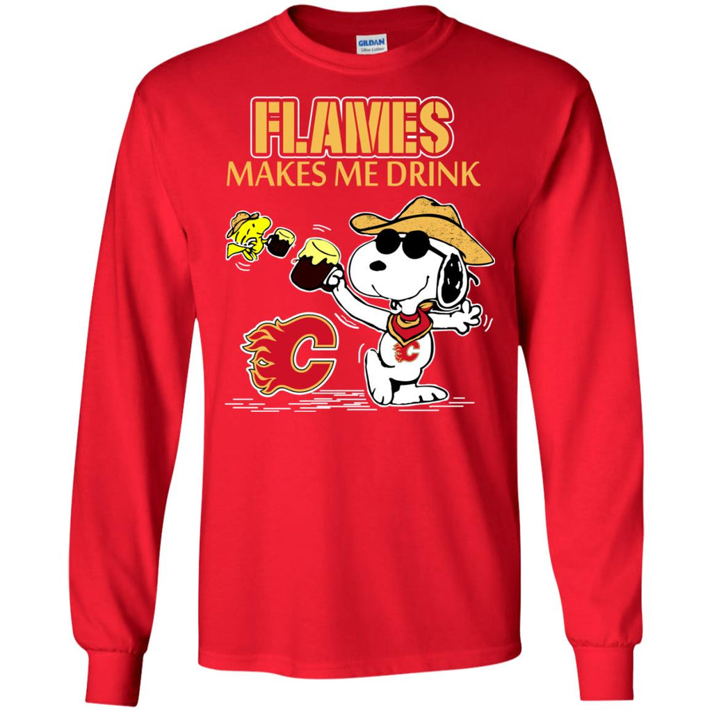 Calgary Flames Make Me Drinks T Shirts