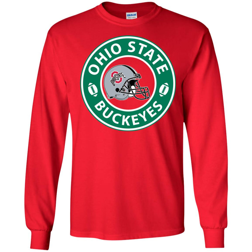Starbucks Coffee Ohio State Buckeyes T Shirts