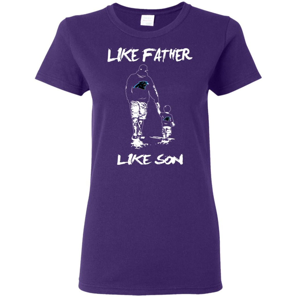 Like Father Like Son Carolina Panthers T Shirt