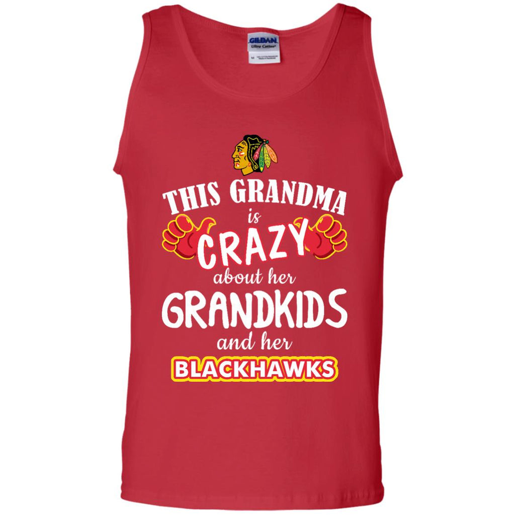 This Grandma Is Crazy About Her Grandkids And Her Chicago Blackhawks T Shirts