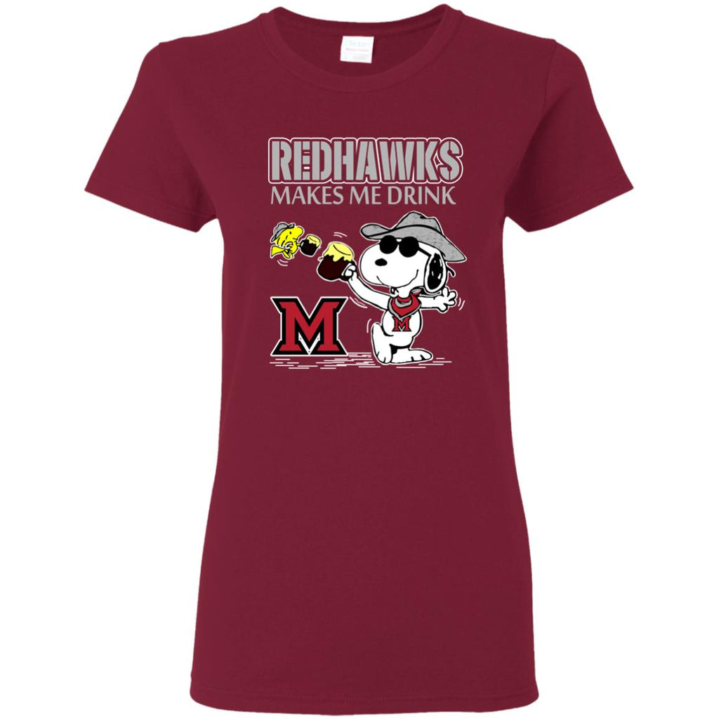 Miami RedHawks Make Me Drinks T Shirts
