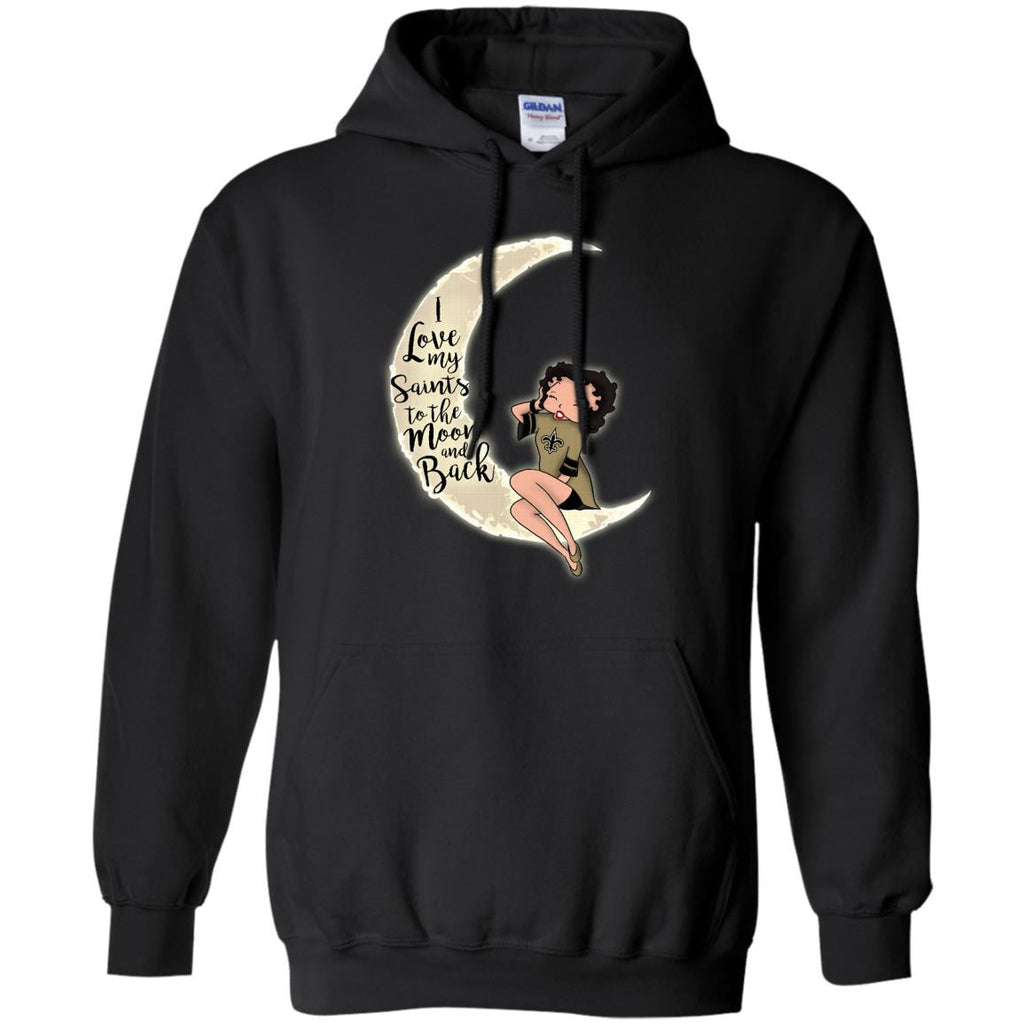 BB I Love My New Orleans Saints To The Moon And Back T Shirt - Best Funny Store