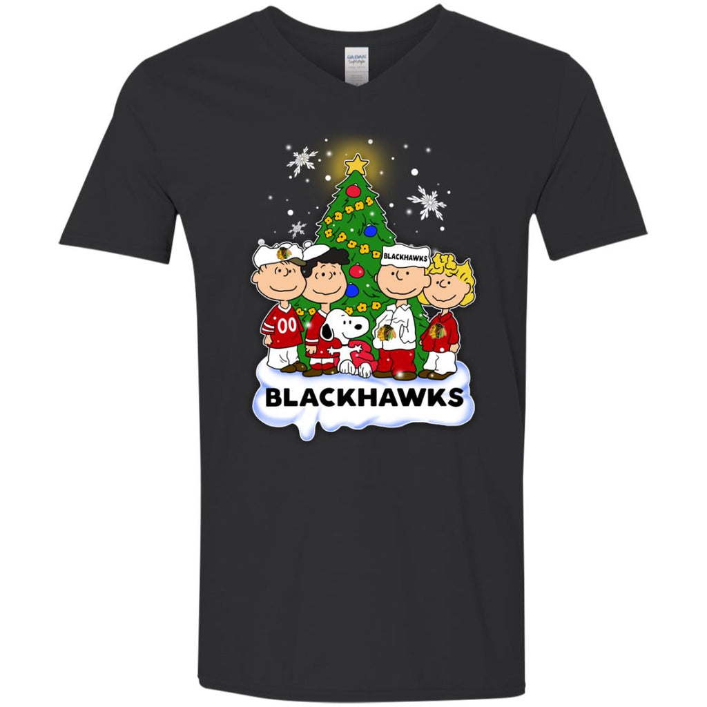 Snoopy The Peanuts Chicago Blackhawks Christmas Sweaters