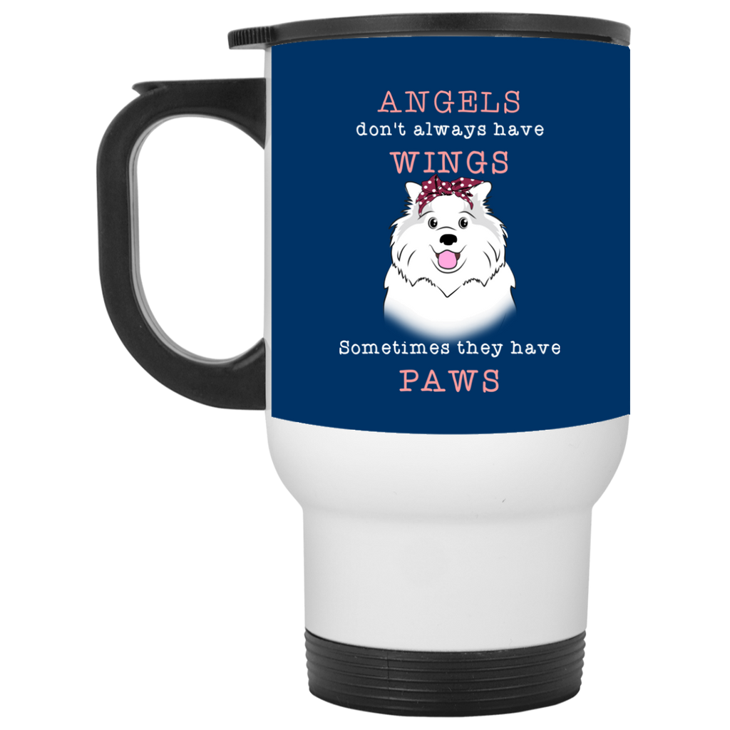 Angels Don't Always Have Wings Samoyed Mugs