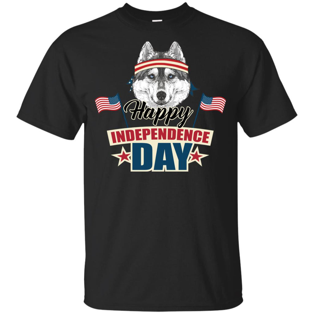 Husky - Happy Independence Day T Shirts Ver 2