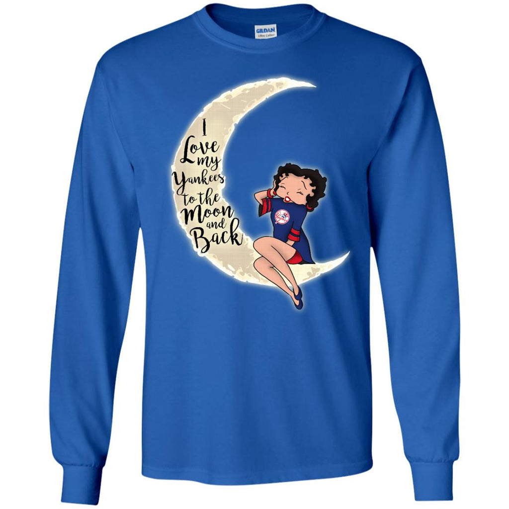 BB I Love My New York Yankees To The Moon And Back T Shirt - Best Funny Store