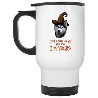 I Put A Spell On You Husky Travel Mugs