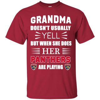 Grandma Doesn't Usually Yell Florida Panthers T Shirts