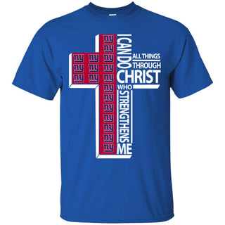 I Can Do All Things Through Christ New York Giants T Shirts