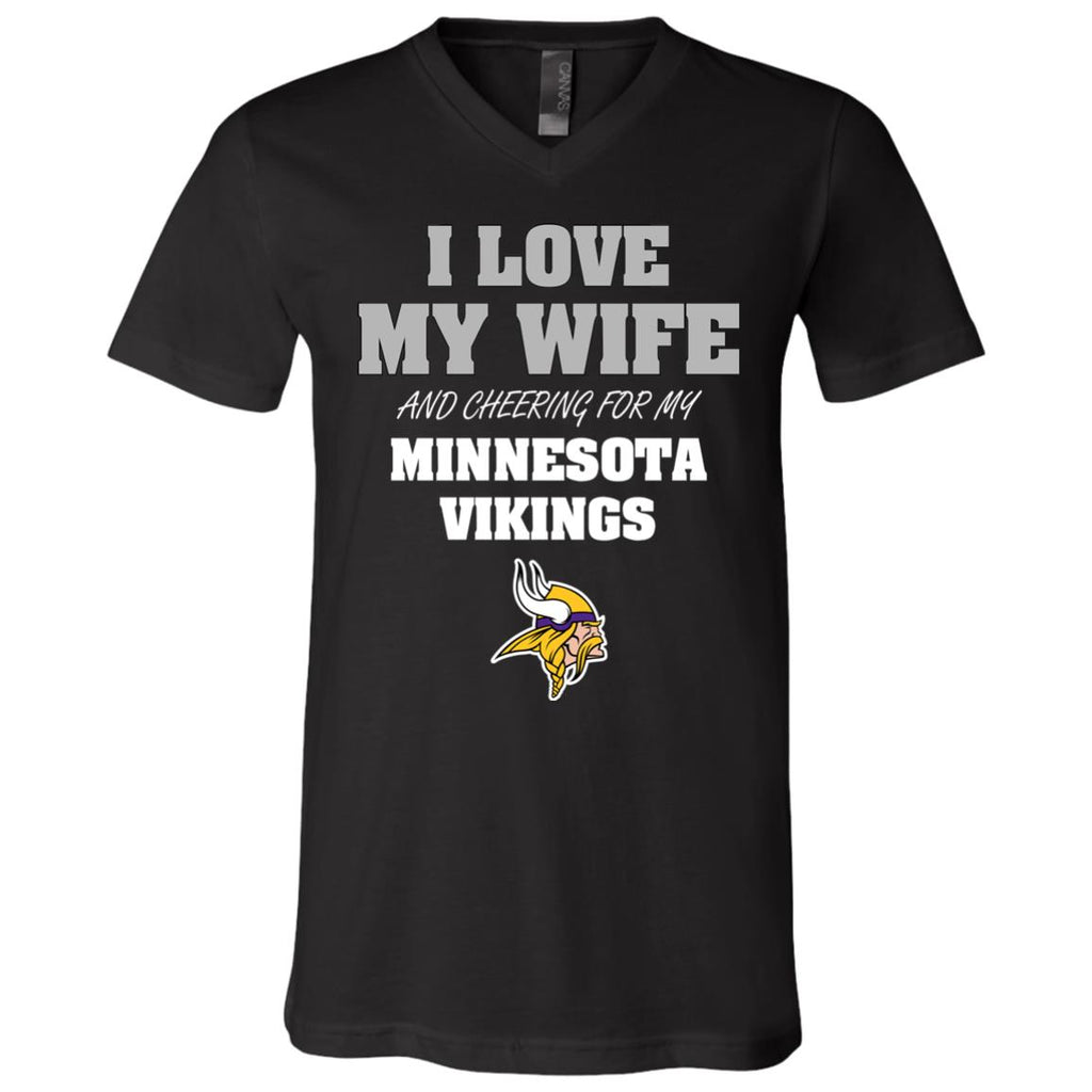 I Love My Wife And Cheering For My Minnesota Vikings T Shirts