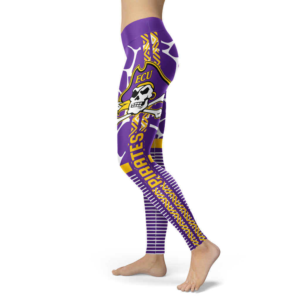 Cool Air Lighten Attractive Kind East Carolina Pirates Leggings