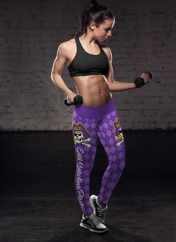 Cosy Seamless Border Wonderful East Carolina Pirates Leggings
