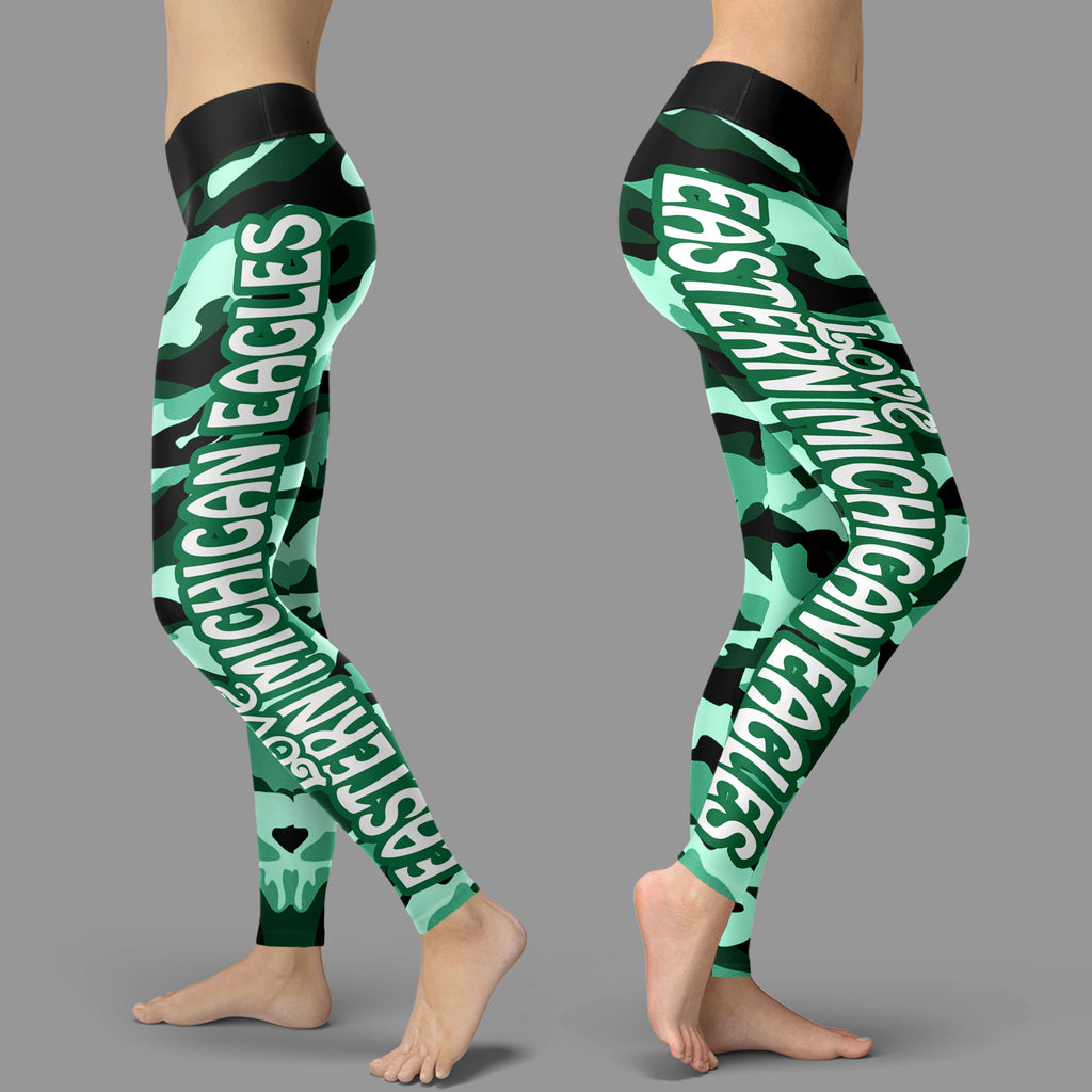 Camo Sporty Trending Fashion Fabulous Eastern Michigan Eagles Leggings