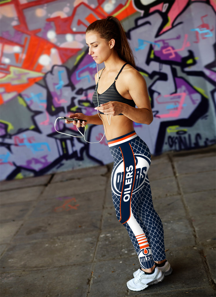 Single Small Line Circle Stylish Fashion Edmonton Oilers Leggings