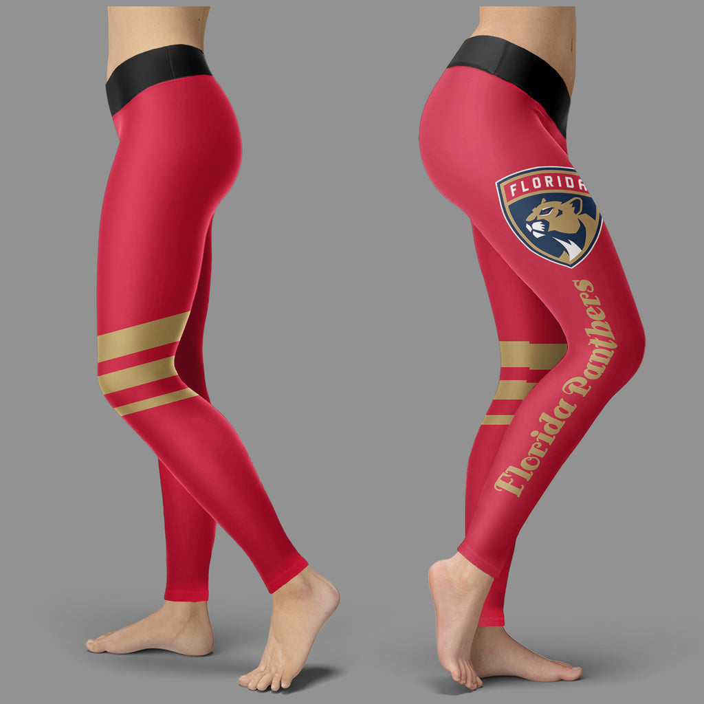 Through Great Logo Spread Body Striped Circle Florida Panthers Leggings
