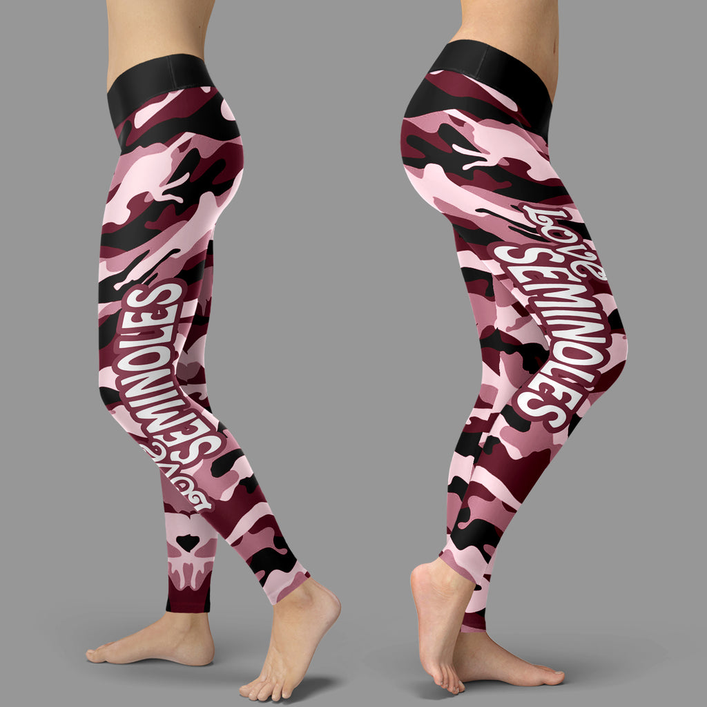 Camo Sporty Trending Fashion Fabulous Florida State Seminoles Leggings