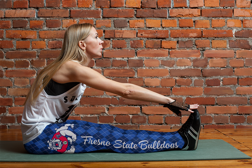Cosy Seamless Border Wonderful Fresno State Bulldogs Leggings