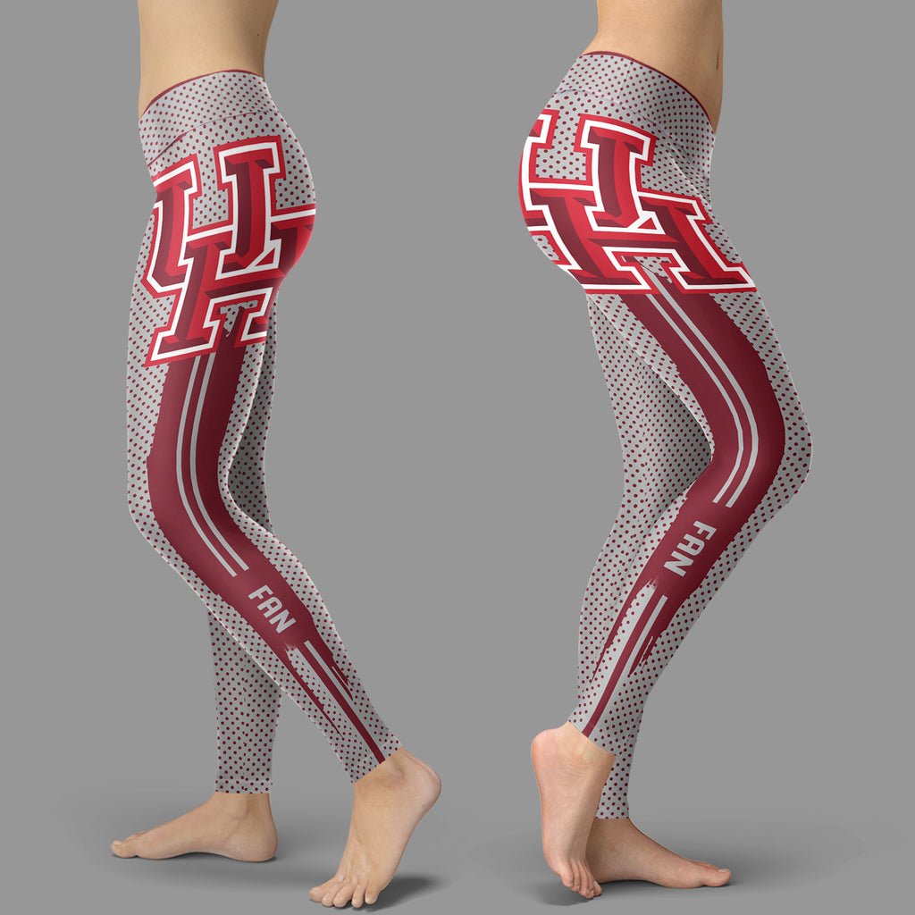 Charming Lovely Little Dots Along Body Houston Cougars Leggings