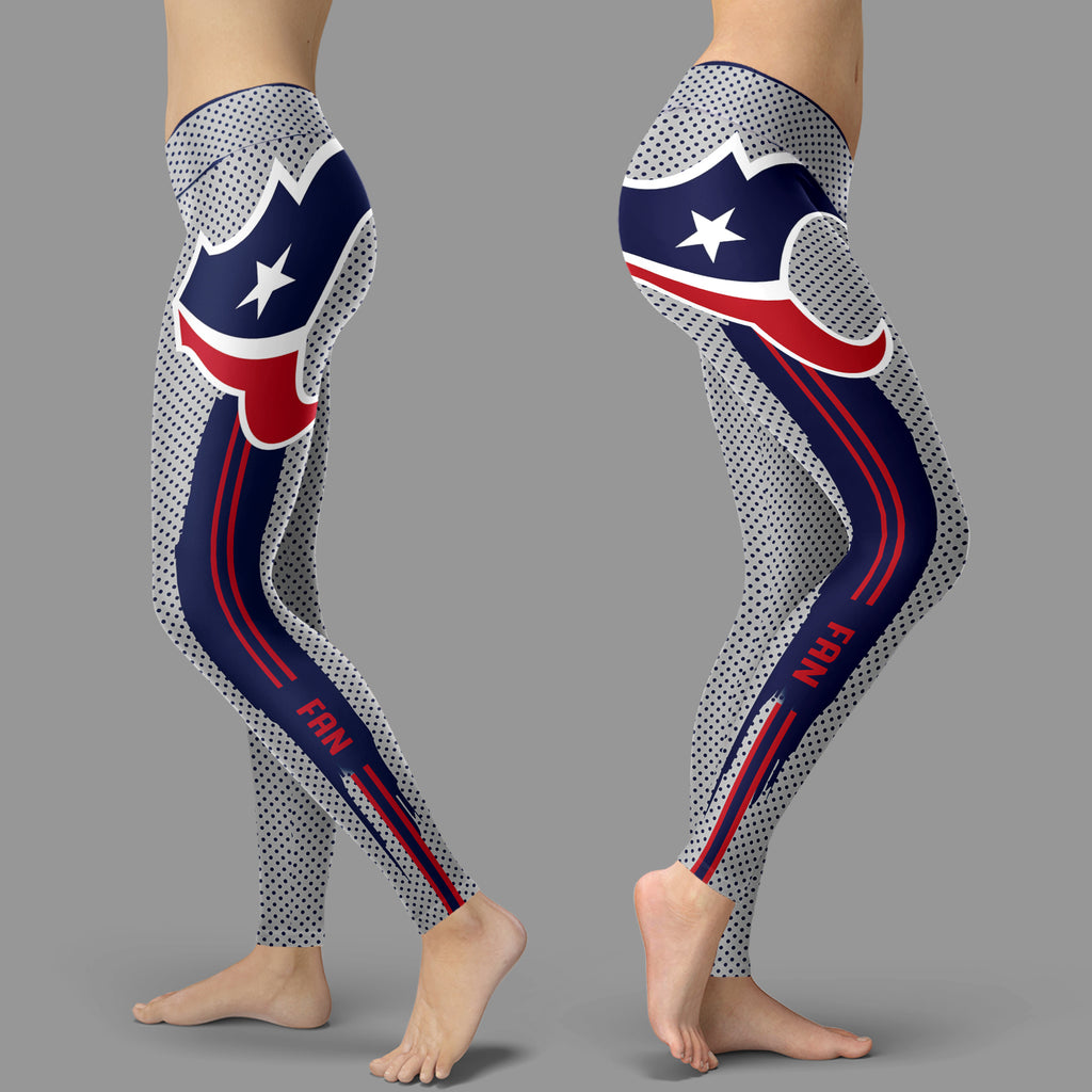 Charming Lovely Little Dots Along Body Houston Texans Leggings