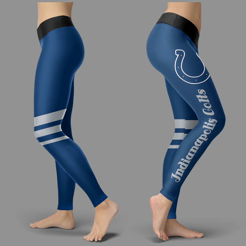 Through Great Logo Spread Body Striped Circle Indianapolis Colts Leggings