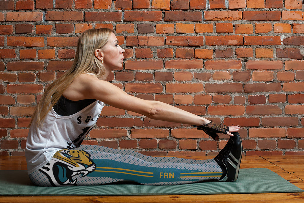 Charming Lovely Little Dots Along Body Jacksonville Jaguars Leggings