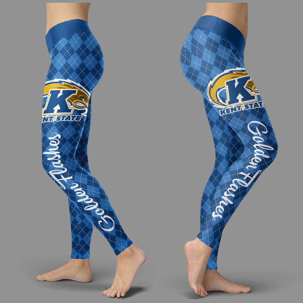 Cosy Seamless Border Wonderful Kent State Golden Flashes Leggings