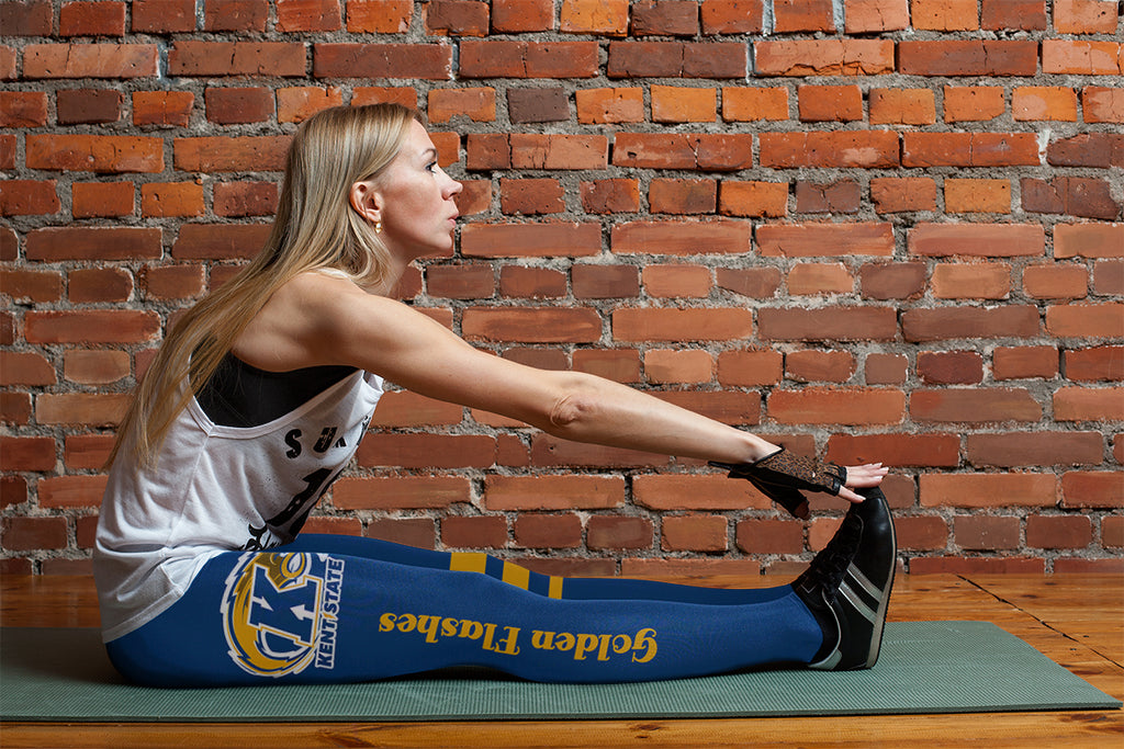 Through Great Logo Spread Body Striped Circle Kent State Golden Flashes Leggings