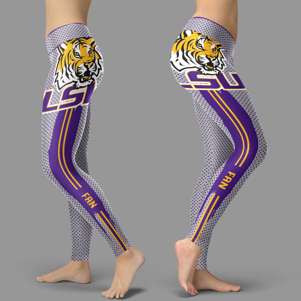 Charming Lovely Little Dots Along Body LSU Tigers Leggings